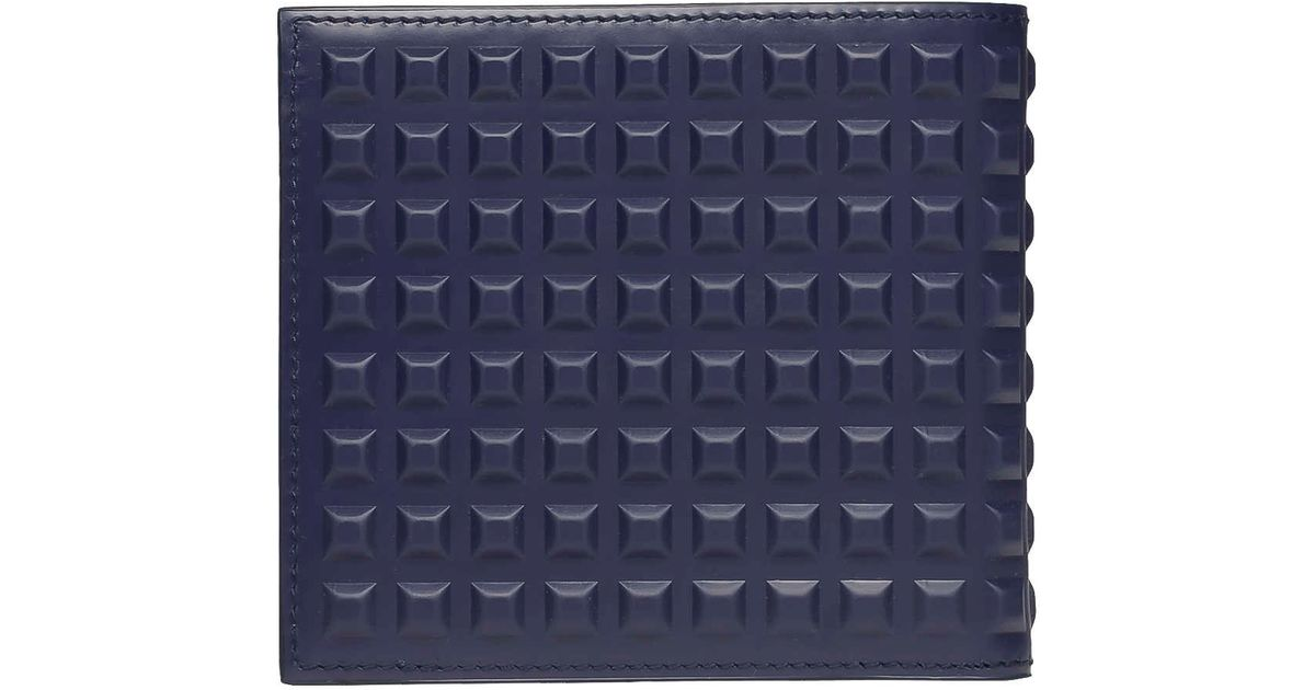 3f0cd7d499 Balenciaga Square Wallet Grid Navy in Blue for Men - Lyst