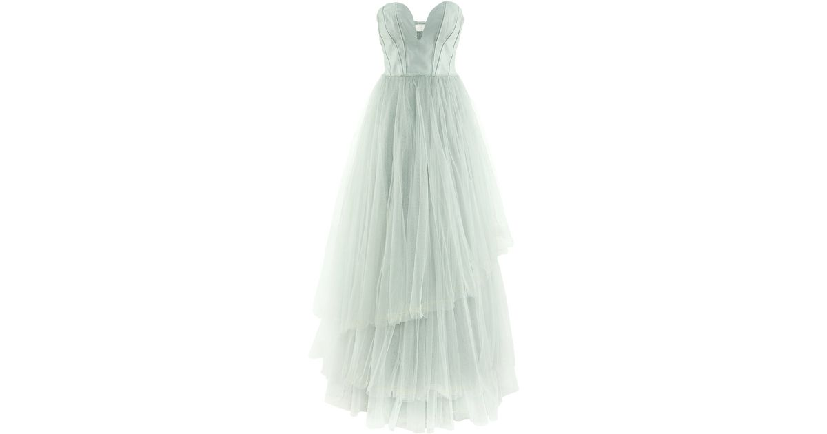 71c86598ee2 H M Tulle Dress in Green - Lyst