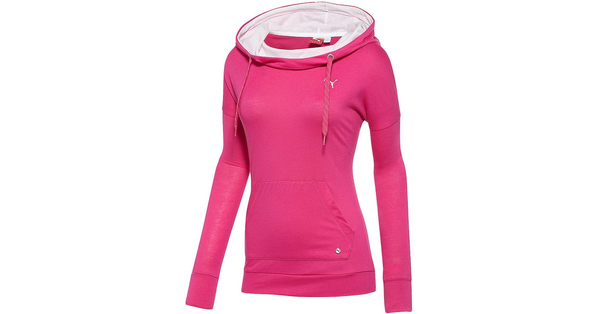 1e923ff522ce Lyst - Puma Core Lightweight Cover Up Hoodie in Pink