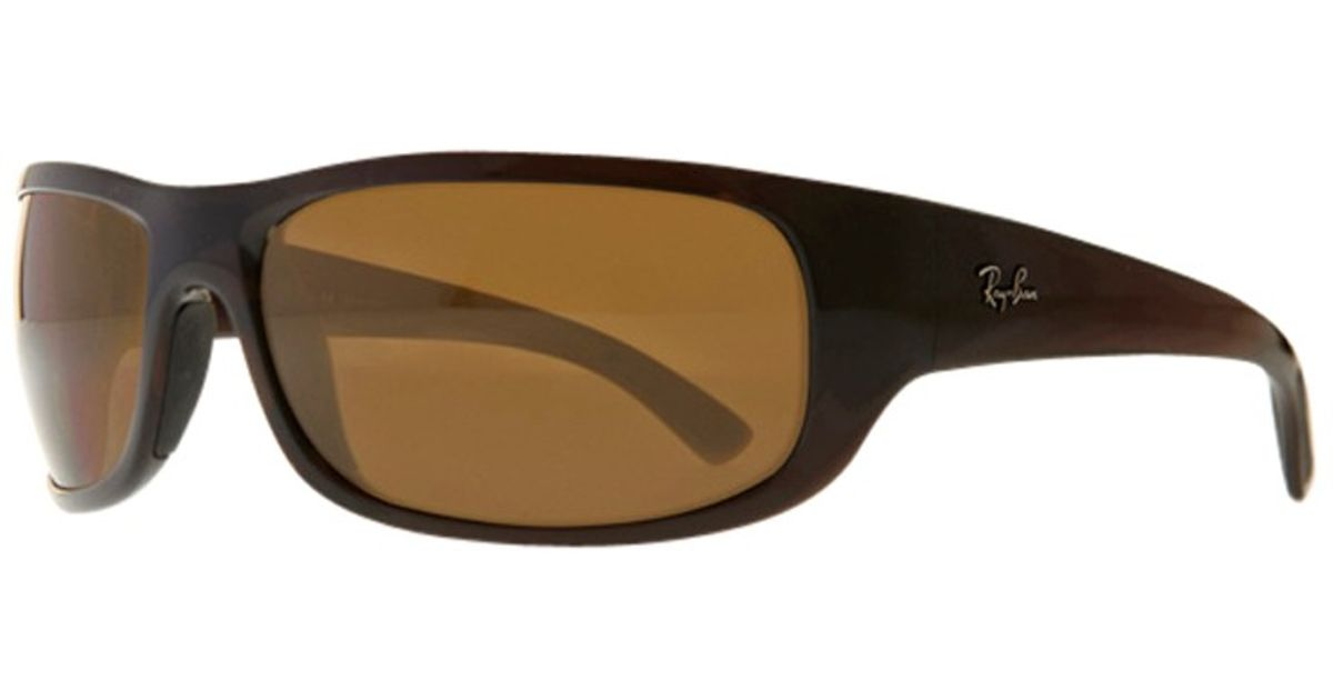 77c76cd855f ... closeout ray ban active wraparound sunglasses in brown lyst ffc9e fcf8d