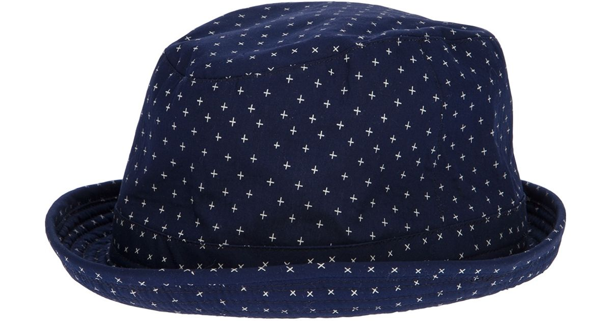 78c16053b308e Paul Smith Condor Trilby Hat in Blue for Men - Lyst