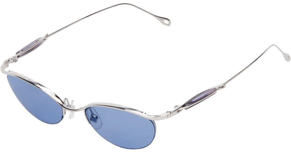 9dfc166a661 Lyst - Jean Paul Gaultier Oval Frame Sunglasses in Metallic