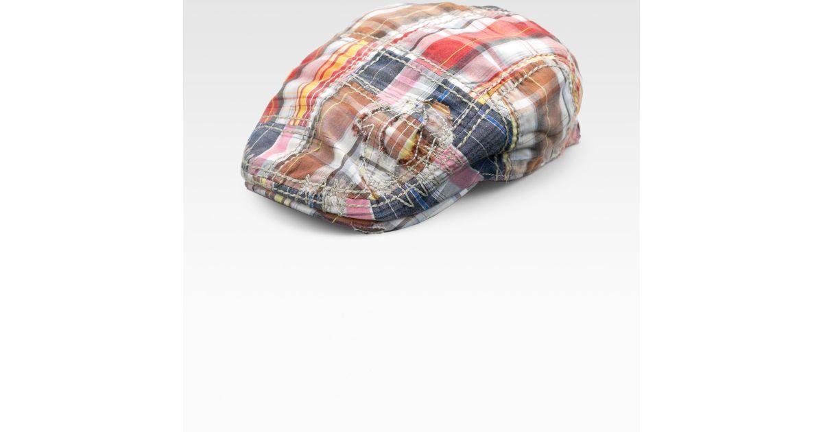 Lyst - True Religion Plaid Ivy Hat for Men 784d4851a8d