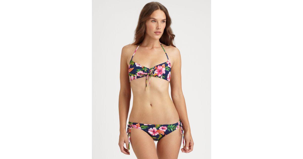 Can't seem flower bikini top them both!