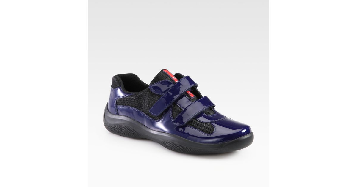 Lyst - Prada Double Strap Sneakers in Blue for Men 0b89d5d44a4a