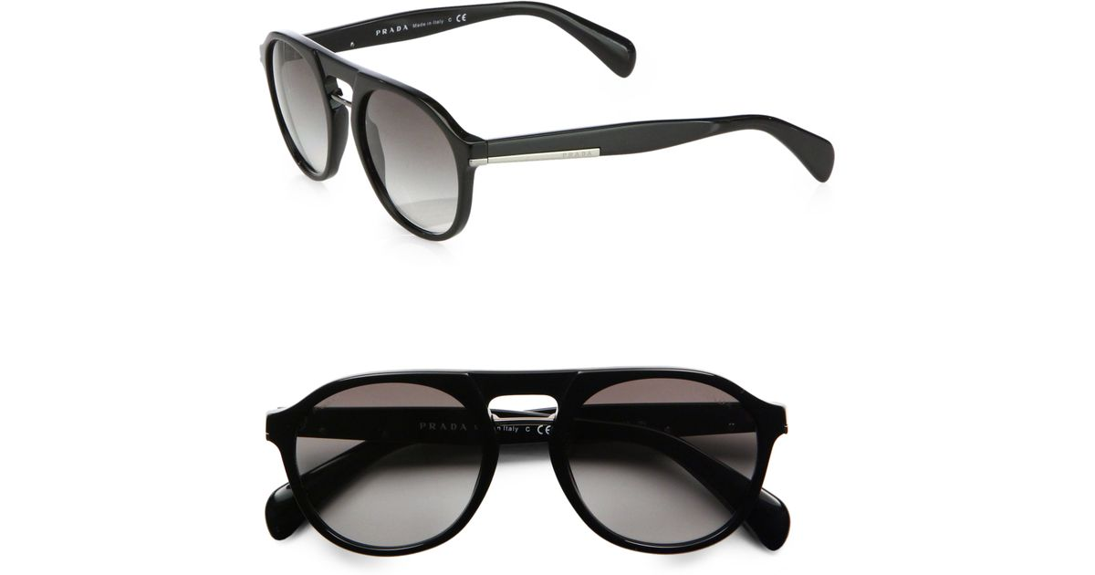 451bbabcb1e6 Lyst - Prada Plastic Keyhole Sunglasses in Black for Men