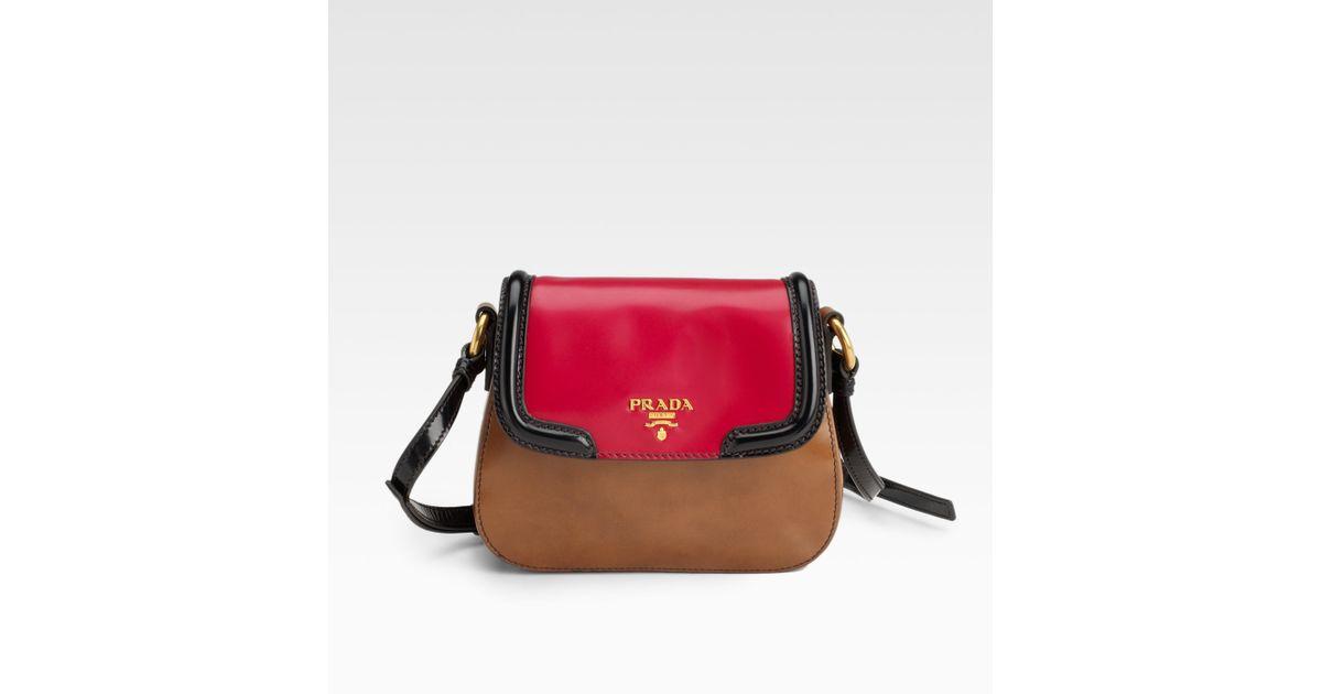 d7abff541a promo code for lyst prada spazzolato mini crossbody bag in red e0cbc 6acb0