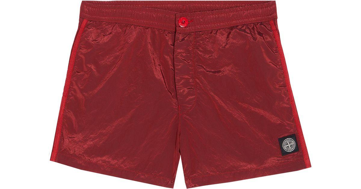 9de890f1e2 Stone Island Nylon Metal Swim Shorts in Red for Men - Lyst