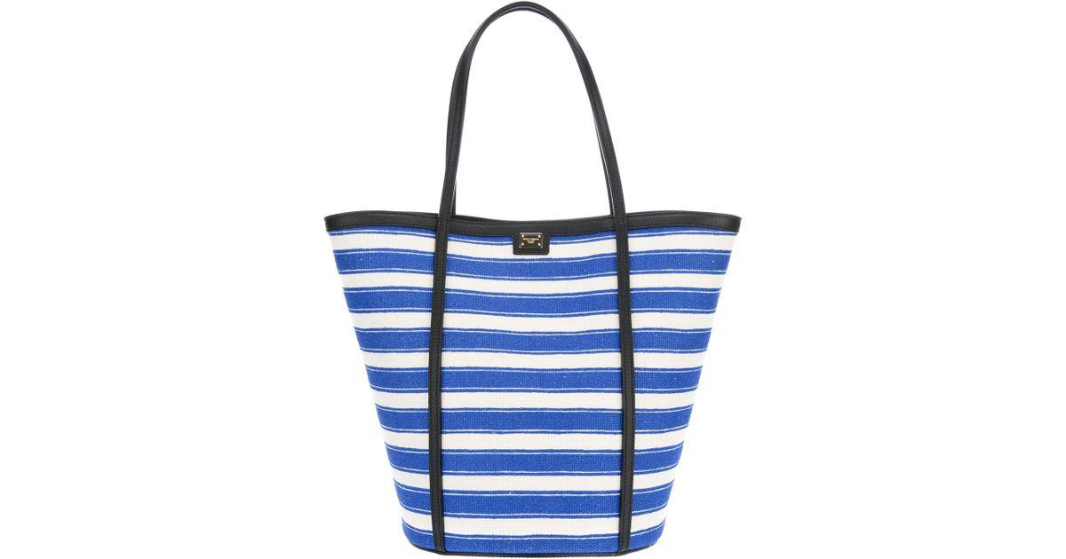 Lyst - Dolce   Gabbana Striped Tote Bag in Blue ec846b1cab862