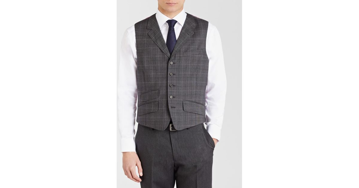 cdff09a76 Ted Baker Ted Baker Endurance Ground Suit Waistcoat in Gray for Men - Lyst