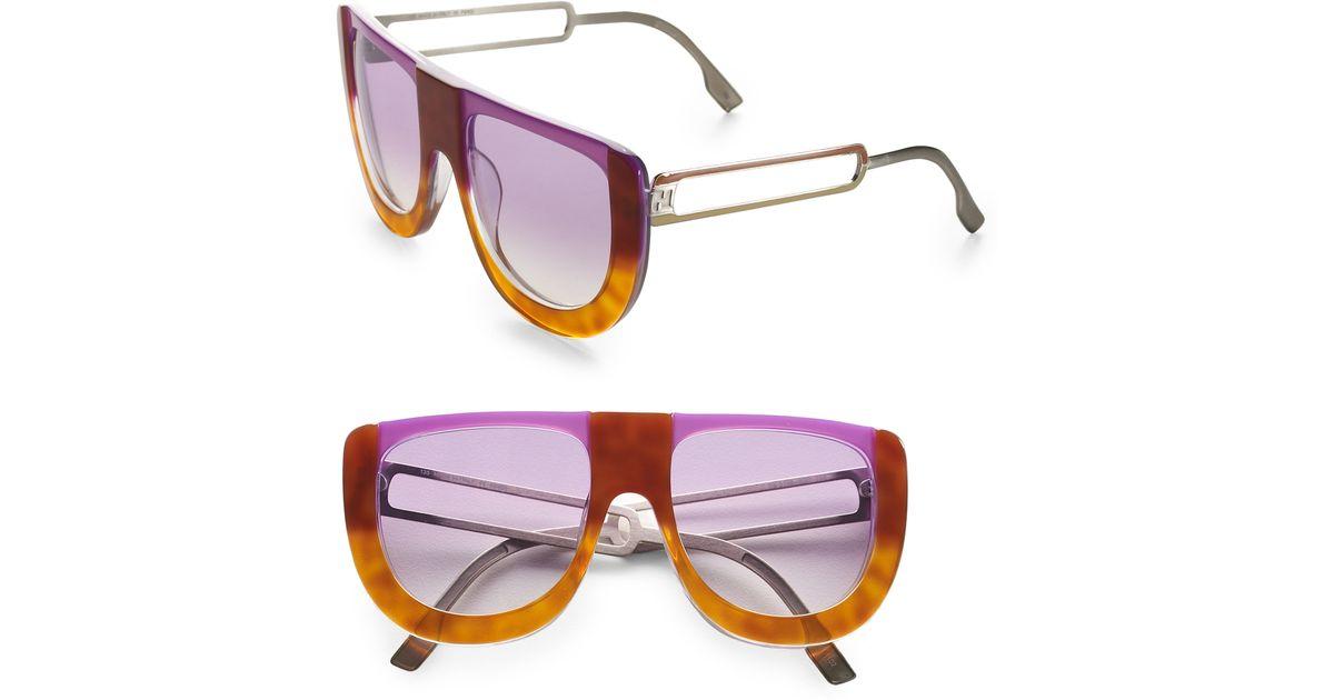 5e976a70661c2 Fendi Colorblock Sunglasses in Orange (lilac havana)