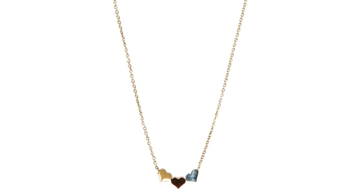 Orelia Three Little Hearts necklace JAWFSxg9