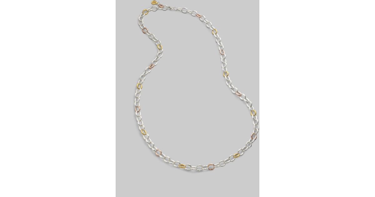 3f1a09f150a Dominique Cohen Sterling Silver 18k Gold Chain Link Necklace in Metallic -  Lyst