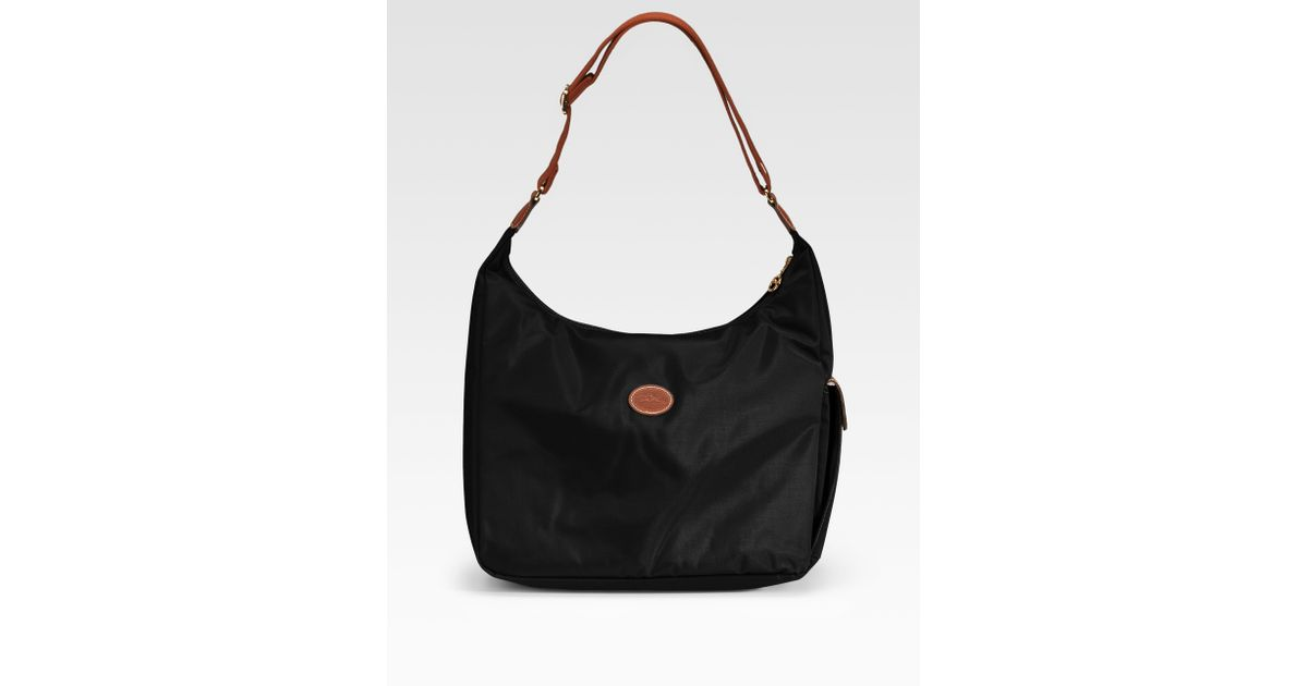 2512a378c2af Lyst - Longchamp Le Pliage Hobo Bag in Black
