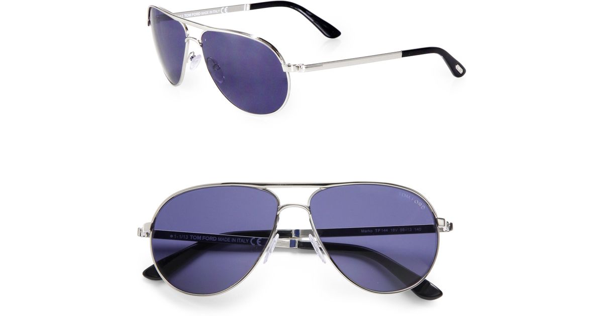 27acca7d239 Lyst - Tom Ford Marko Metal Aviator Sunglasses in Blue for Men