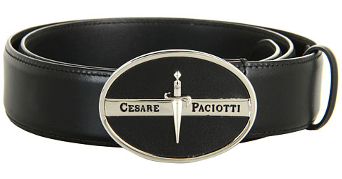 Lyst - Cesare Paciotti Leather Belt in Black for Men 83355eb464d