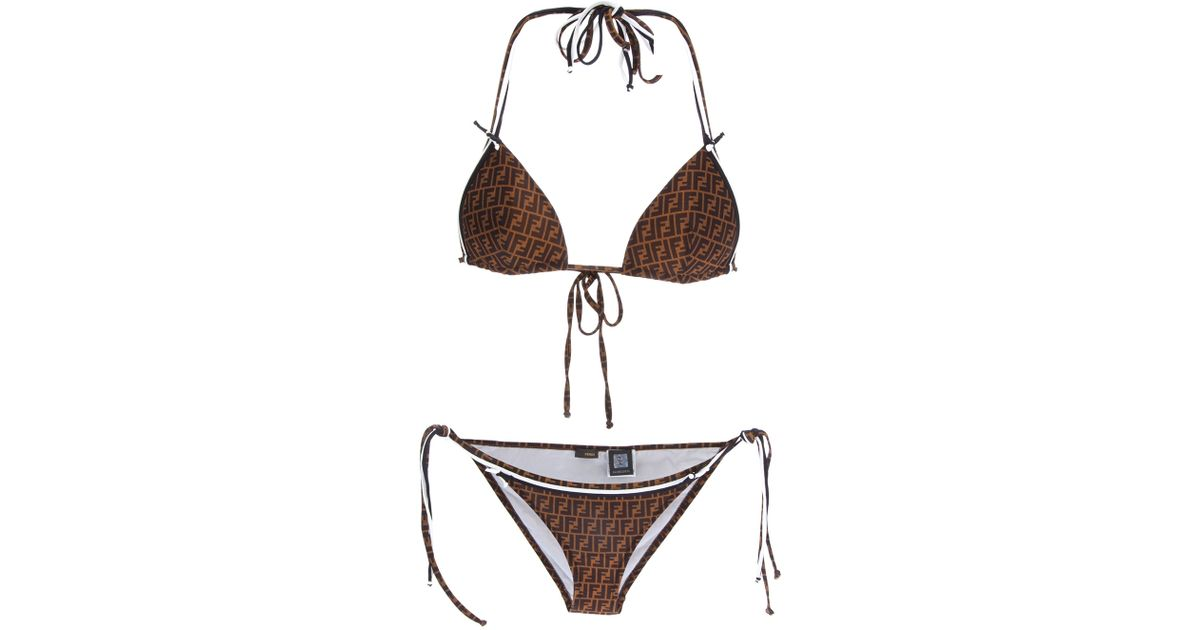 8946097f5ef63 Fendi Zucchino Bikini in Black - Lyst