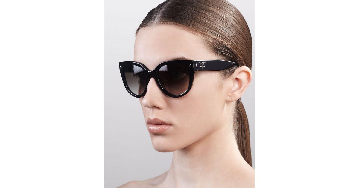 89a4f0740bd5 cheap lyst prada heritage cateye sunglasses in black bc03b d0059