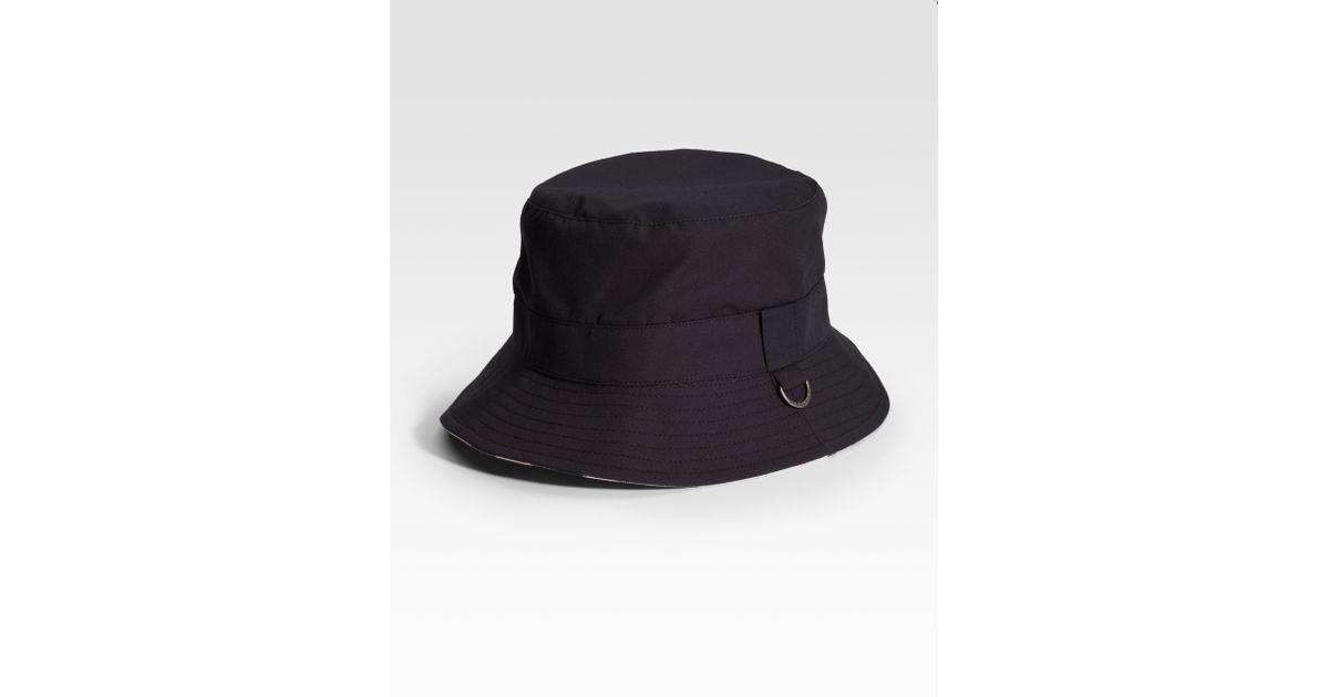 Lyst - Burberry Bucket Hat in Black for Men f92c3b4f64a