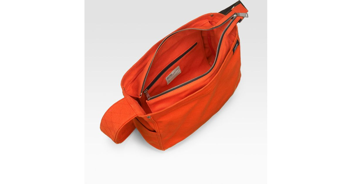 e888971d2d Lyst - Jack Spade Lightweight Canvas Messenger Bag in Orange for Men
