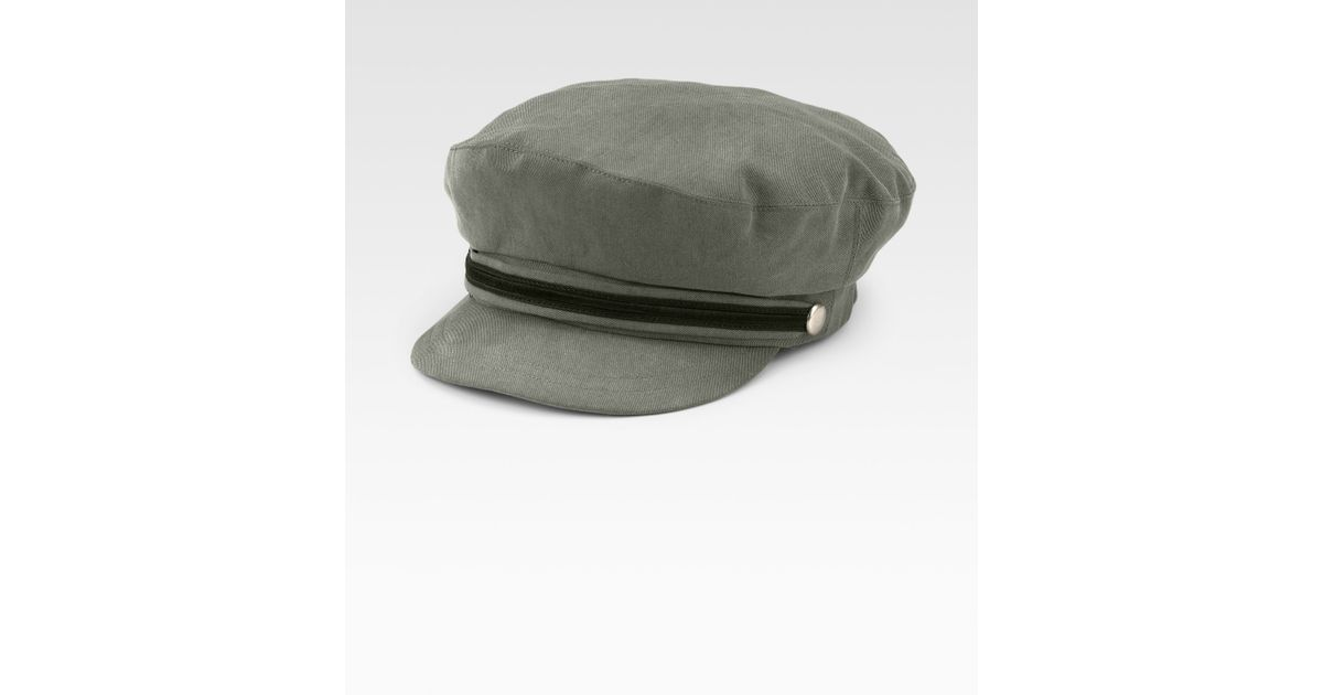 28f6a372653 Lyst - Mr. Kim By Eugenia Kim Captains Hat in Green for Men