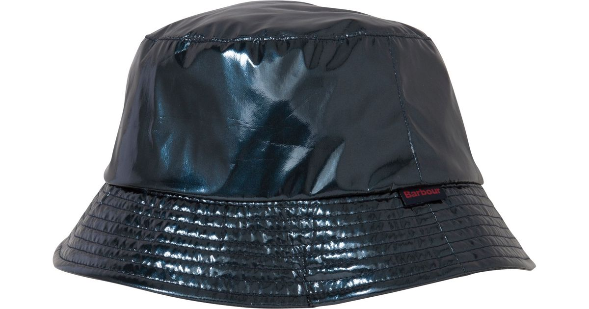 Barbour Trench Rain Hat in Blue - Lyst 780b774d3bd9