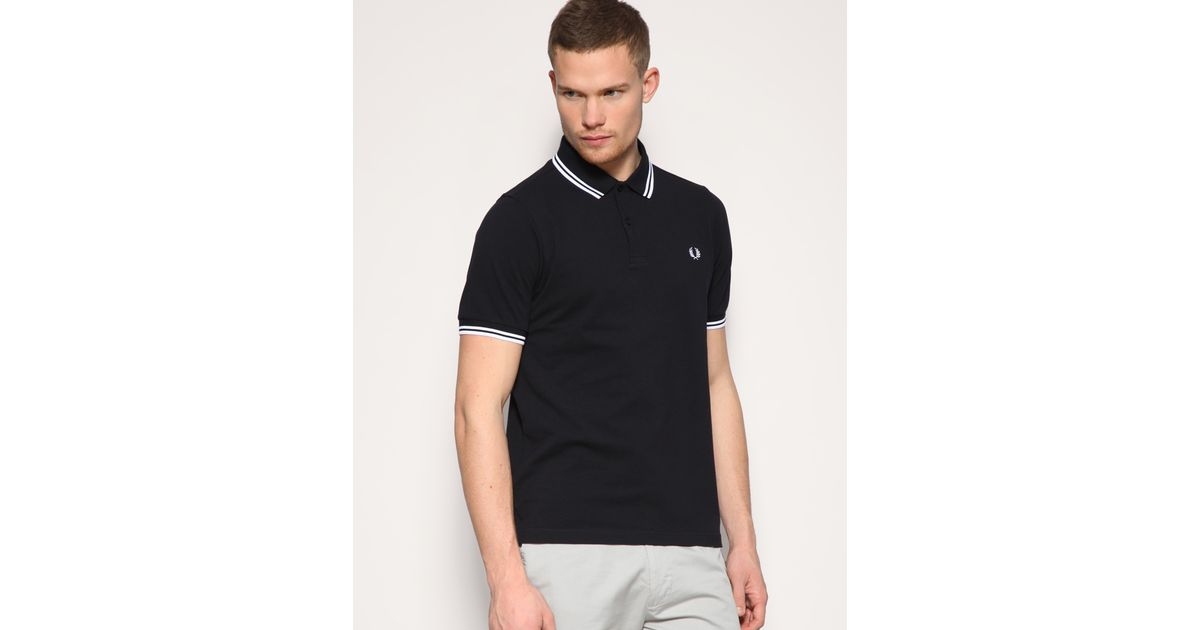 a9ecf0cad Hurley Fred Perry Slim Fit Twin Tipped Polo Top in Blue for Men - Lyst