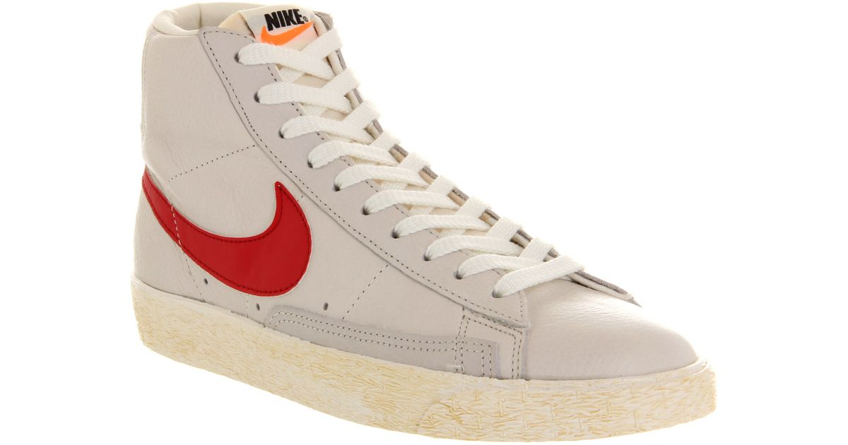 de4b29d1ae ... shopping lyst nike blazer mid vintage leather sail red in white for men  38c8e 47fc3