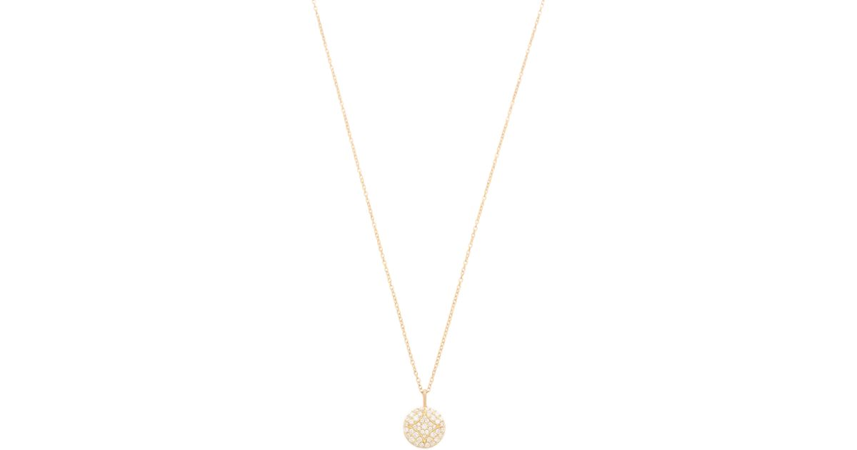 Lyst Jamie Wolf Small Pave Aladdin Disc Necklace in Metallic