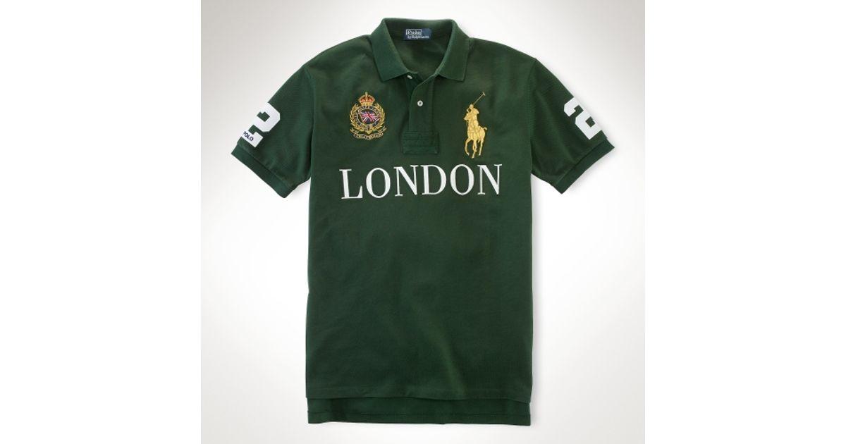 Lyst - Polo Ralph Lauren Classicfit Big Pony City Polo in Green for Men b63242fefda4