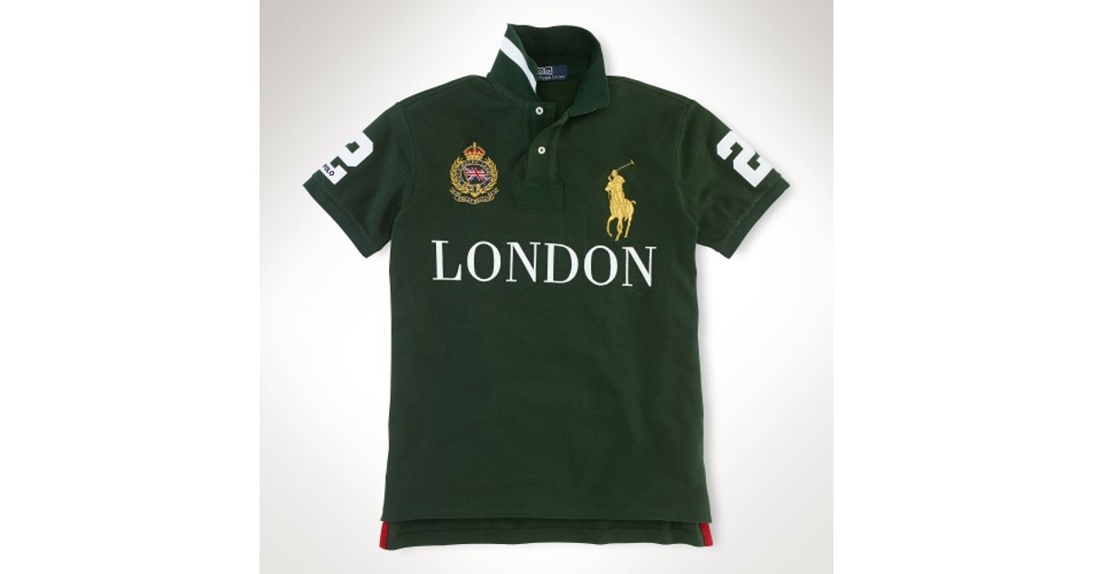 Polo ralph lauren Custom Fit Big Pony City Polo in Black for Men (london)