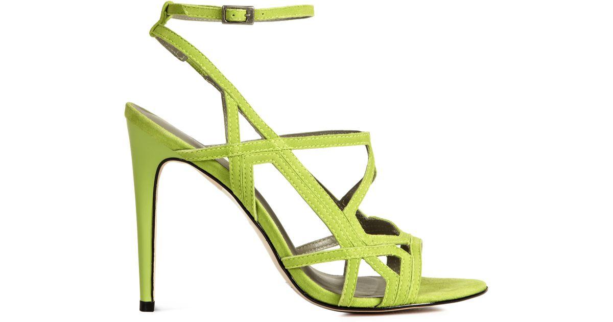 5e04eb4c062 Lyst - Reiss Grazia Geometric High Sandals in Green