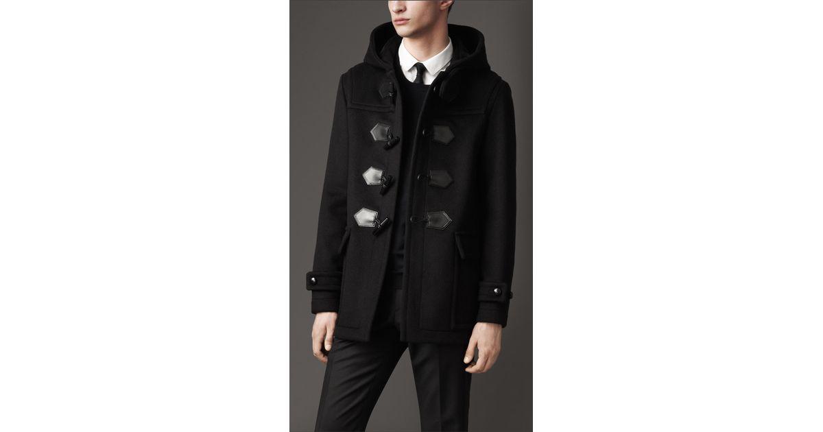 2d7492ee1 Burberry Seam Detail Duffle Coat in Black for Men - Lyst