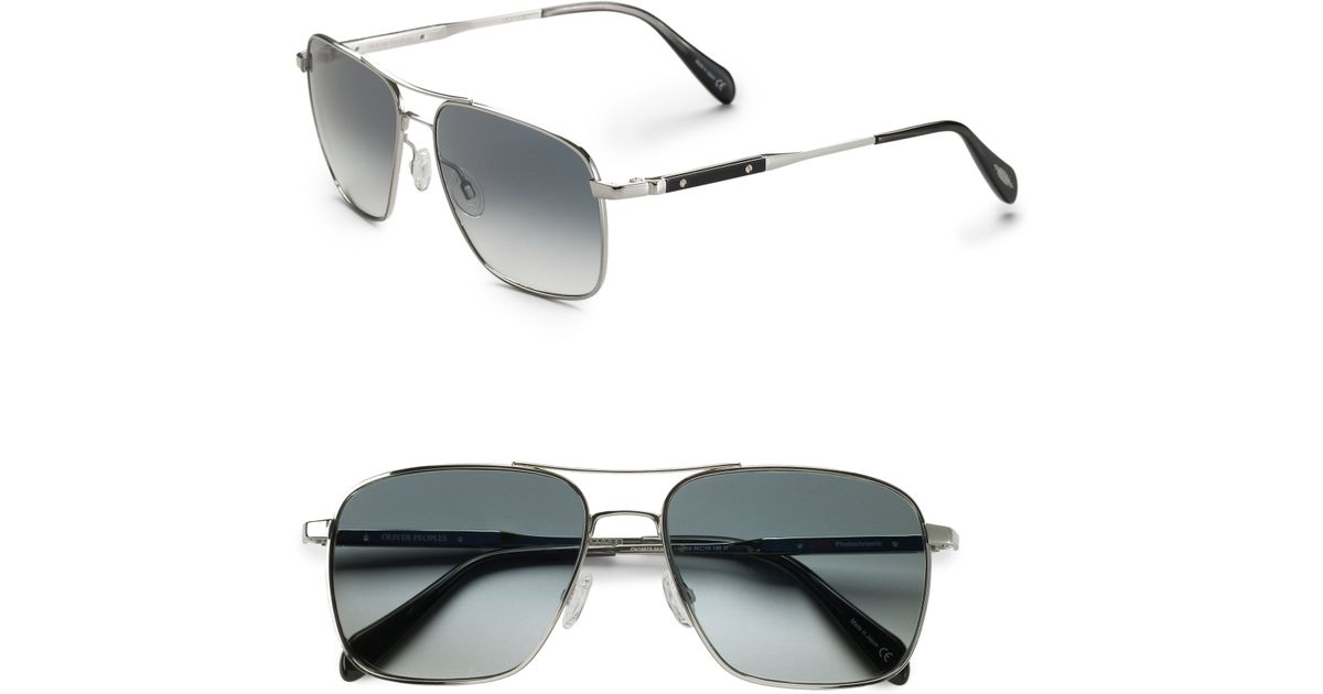 702900b909 Lyst - Oliver Peoples Linford Sunglasses in Metallic