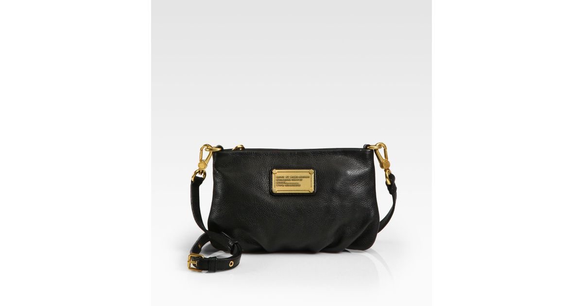 fa1adc09b45 Marc By Marc Jacobs Classic Q Percy Leather Cross-Body Bag in Black - Lyst