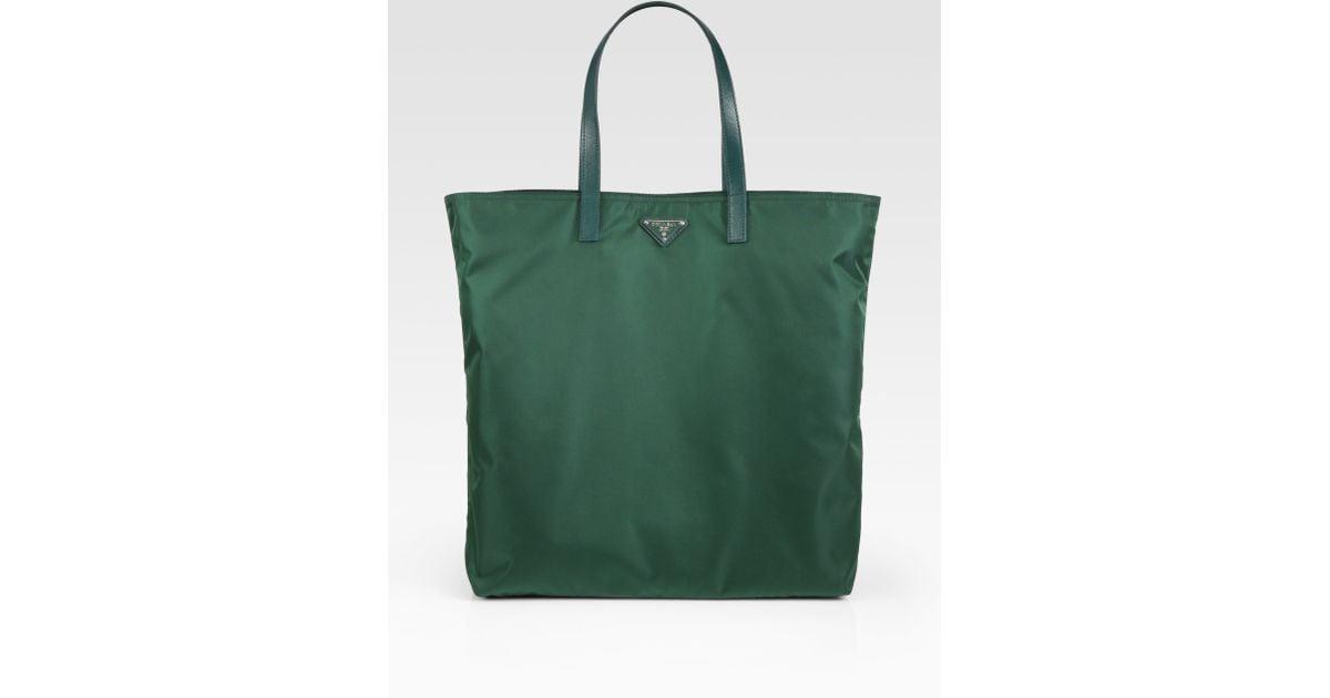 a0a814912313 ... promo code for lyst prada vela nylon tote bag in green for men 7eaa2  3555b