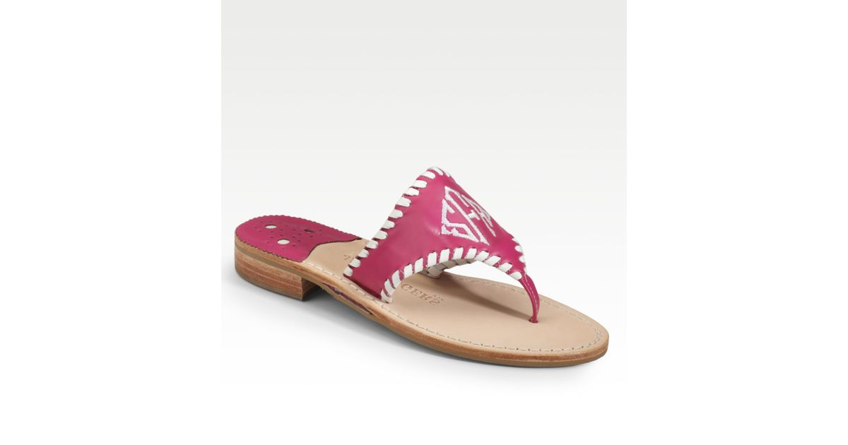 55a230092576 Lyst - Jack Rogers Personalized Navajo Resort Sandals in Pink