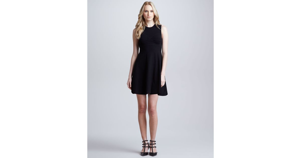 Lyst Red Valentino Aline Knit Dress With Open Bow Back Detail
