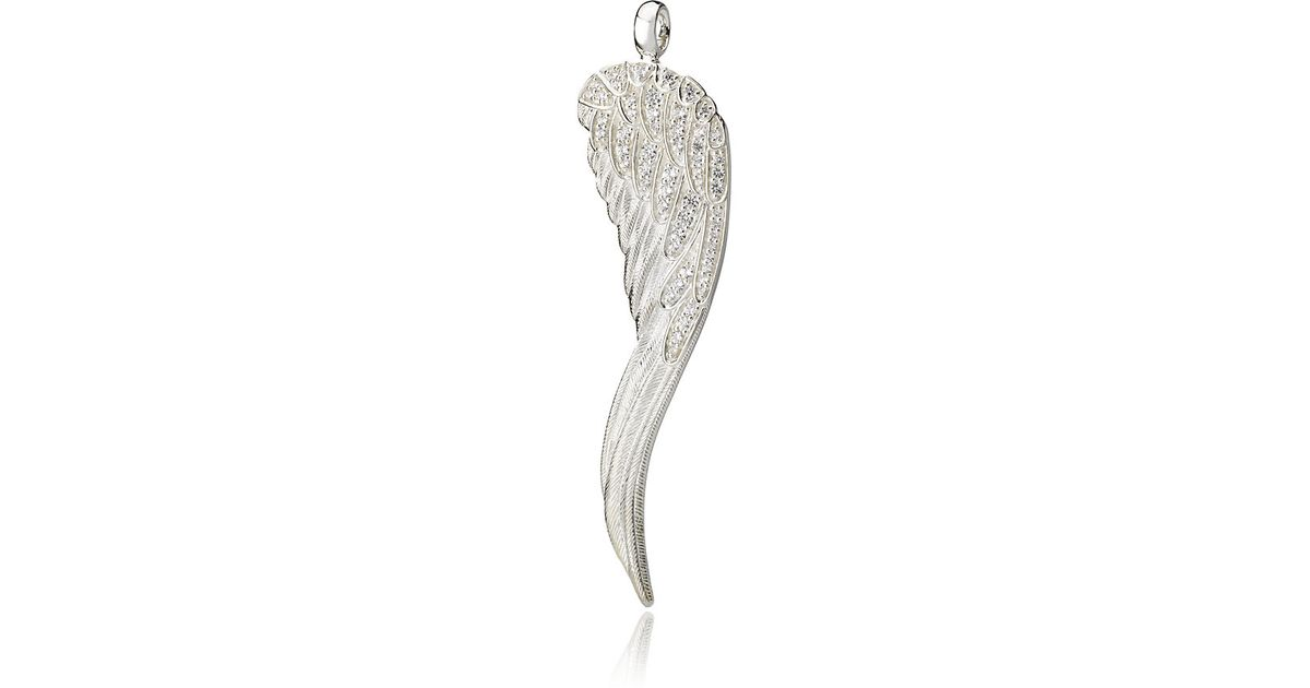 Lyst thomas sabo angel wing pendant in metallic mozeypictures Gallery