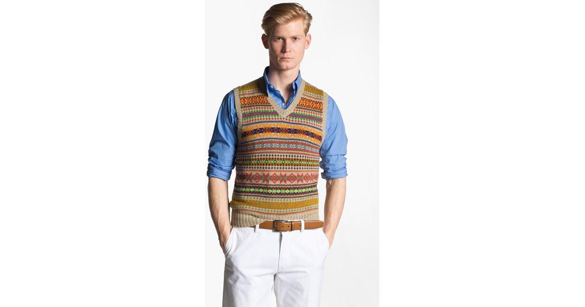 Lyst - Polo Ralph Lauren Fair Isle Sweater Vest for Men