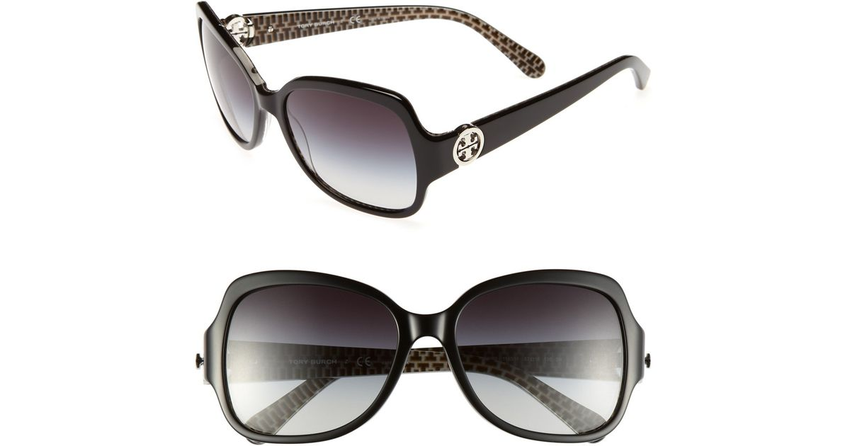 50e1036193 Lyst - Tory Burch  so Glam  57mm Sunglasses in Black