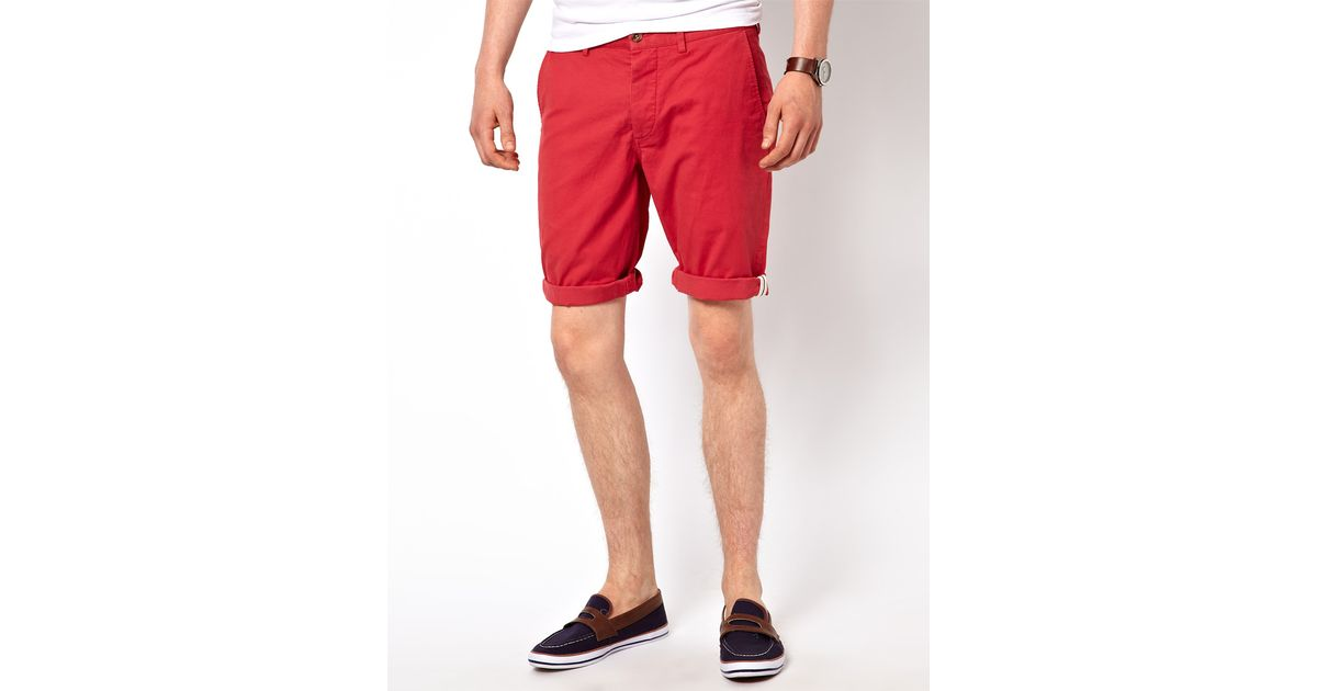 Ben sherman Chino Shorts in Red for Men | Lyst