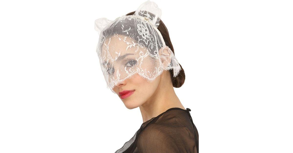 Black Lace Heidi Cat Veil Headband Maison Michel Cheap Sale Browse Outlet Cheap Buy Authentic Get To Buy Cheap Online NxHyA