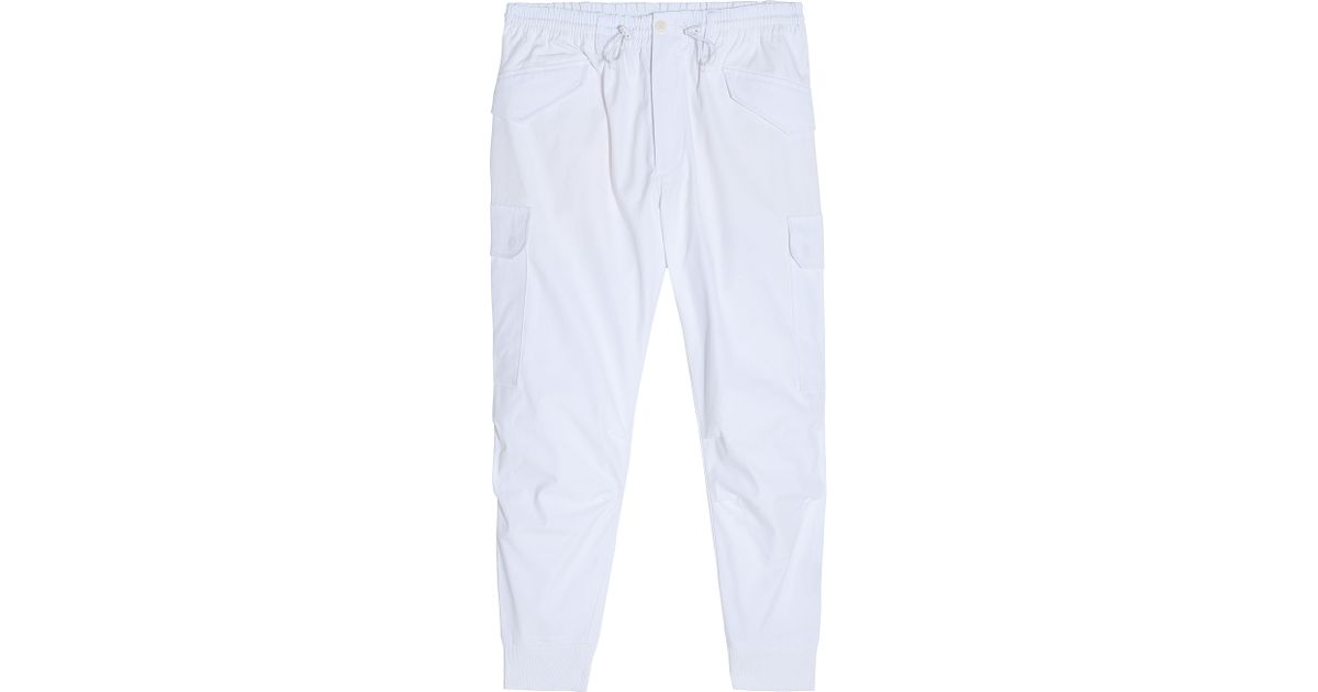 Y-3 Cargo Ankle Cuff Sport Pants in White for Men | Lyst