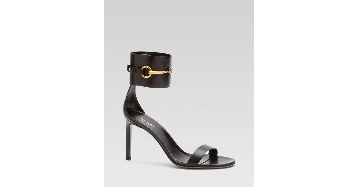af5b7b74c357 Lyst - Gucci Ursula Ankle Strap High Heel Sandal in Black
