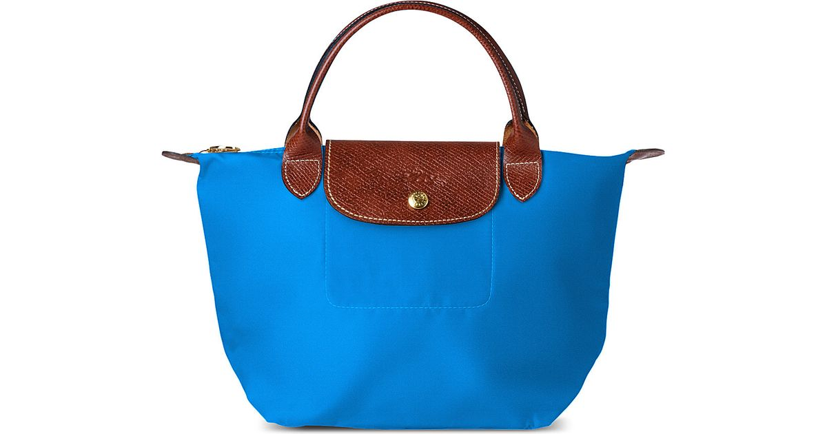 bfe764bf248ca Longchamp Le Pliage Small Handbag in Ultra Marine in Blue - Lyst