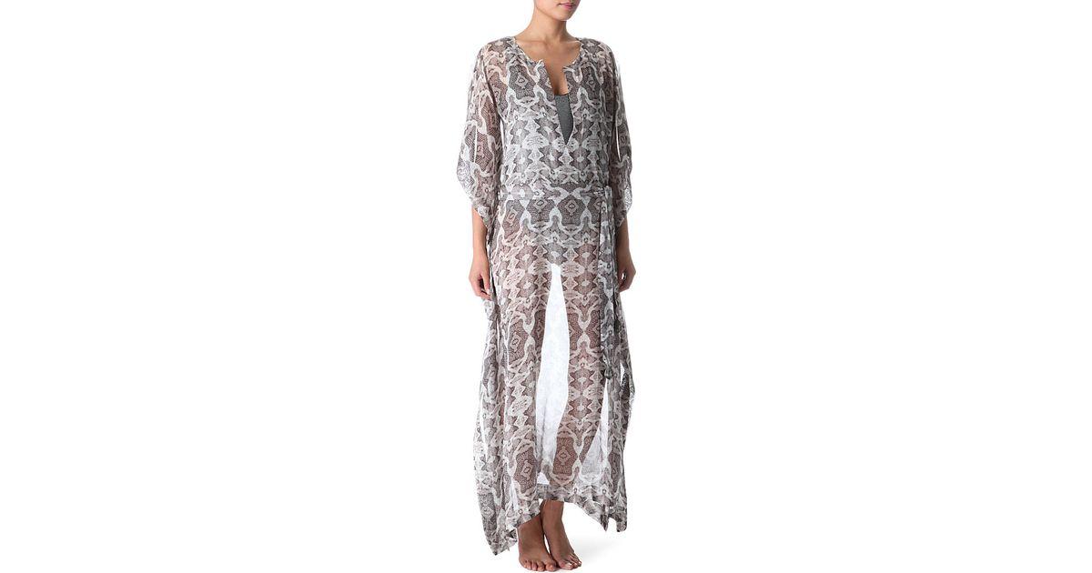 Ivy Boubou Metallic Striped Silk-blend Jacquard Kaftan - White Marie France Van Damme Ol64n