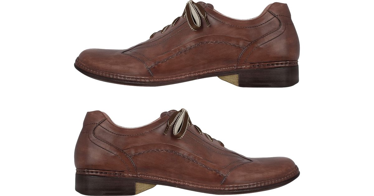 pakerson brown italian handmade leather lace up shoes