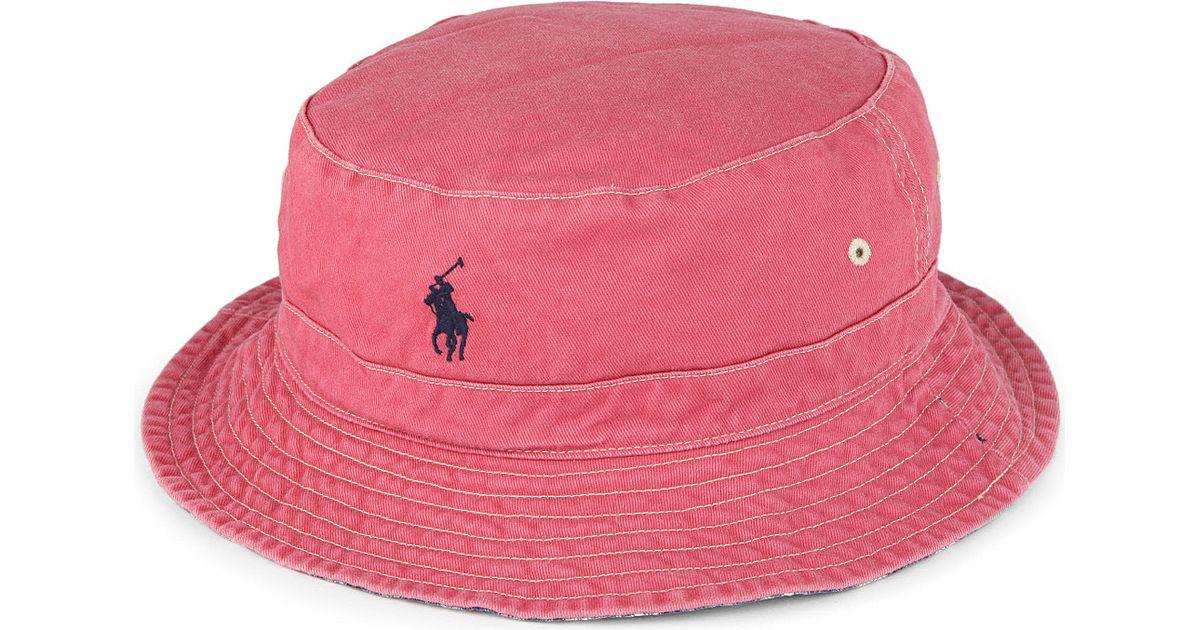 d81503c0e83 Ralph Lauren Reversible Beachside Bucket Hat in Red for Men - Lyst
