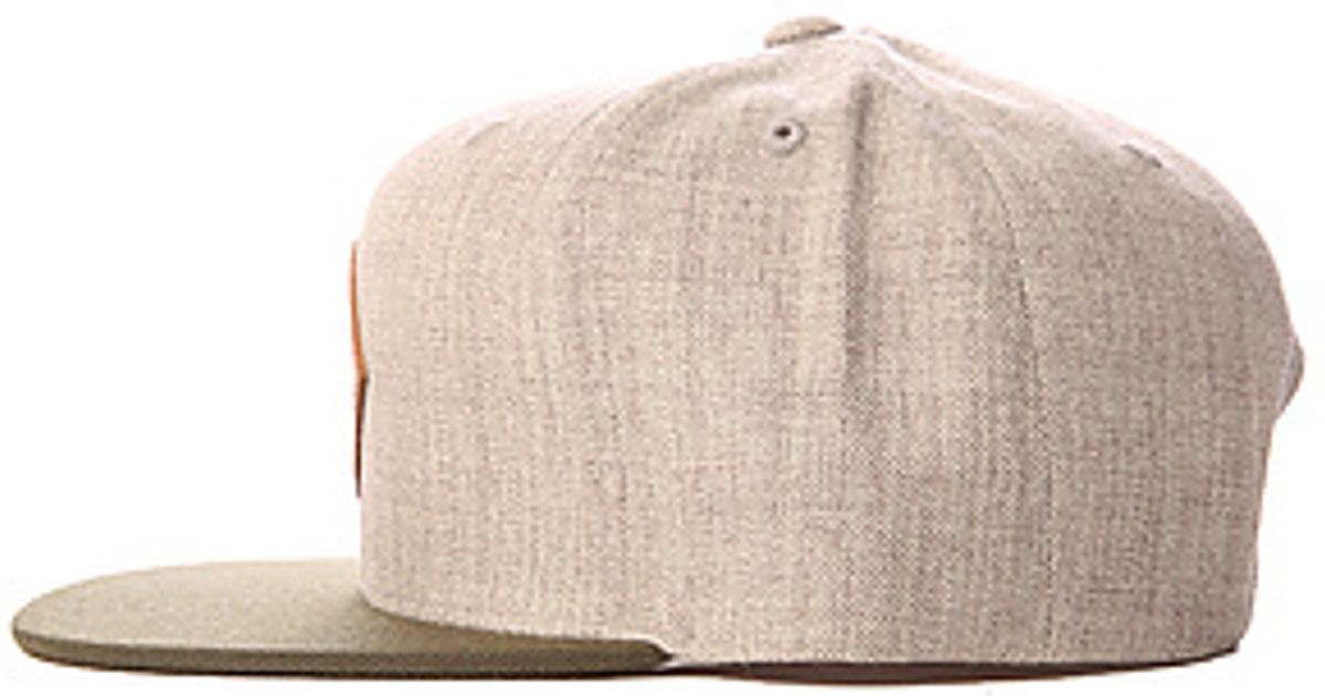 Lyst - RVCA The Delux Hat in Heather Grey in Natural for Men 1bd01428fb7